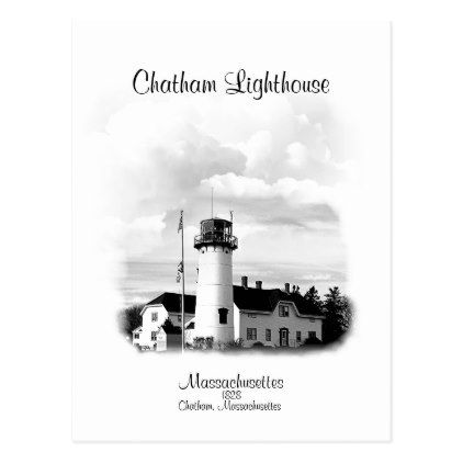 Chatham Lighthouse - Massachusetts Postcard - postcard post card postcards unique diy cyo customize personalize