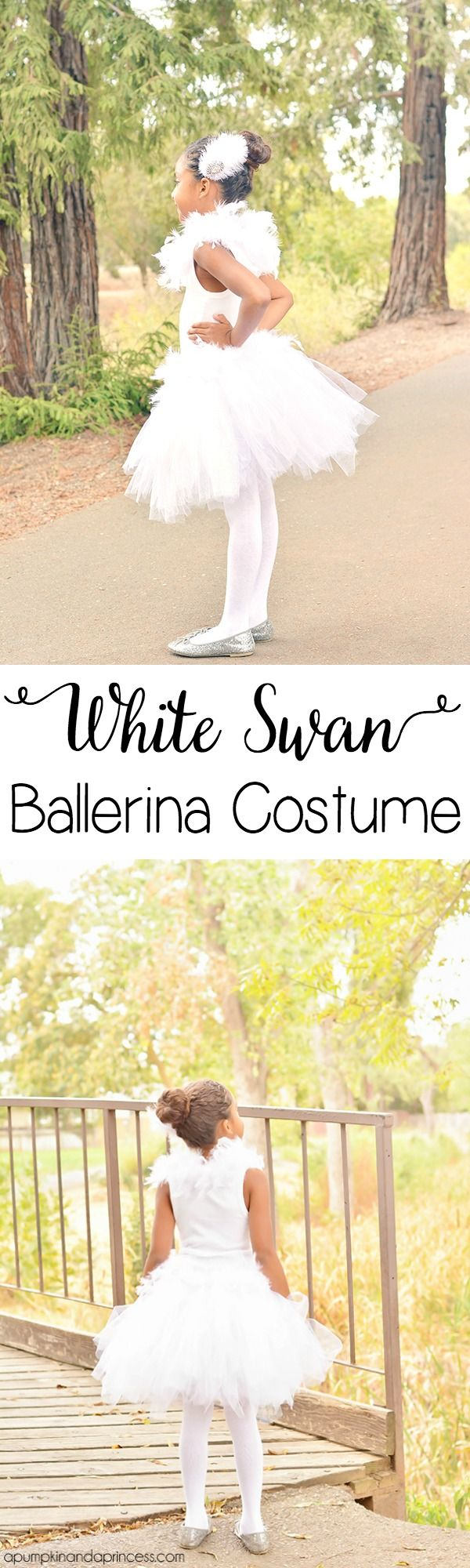 DIY White Swan Ballerina Costume by MichaelsMakers A Pumpkin and a Princess