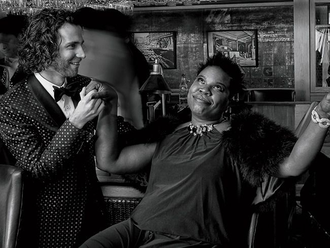 Romantically linked boyfriend and girlfriend: Kyle Mooney and Leslie Jones