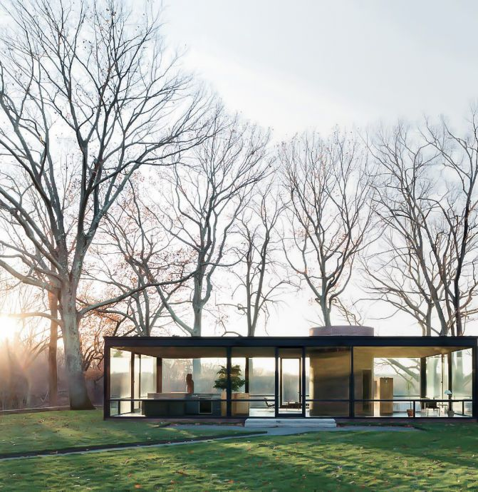 PHILIP JOHNSON, The Glass House, 1949, New Canaan, Connecticut.