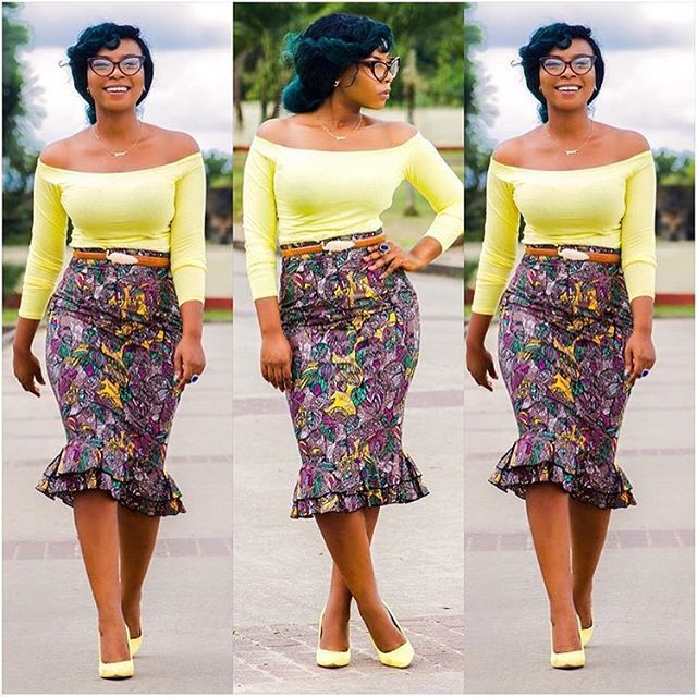 Cuteness Look by @therealrhonkefella  #africanprint #africanfashion #pencilskirt #pagnifik