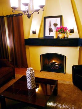 17 best images about fireplace on pinterest spanish art for Spanish style fireplace