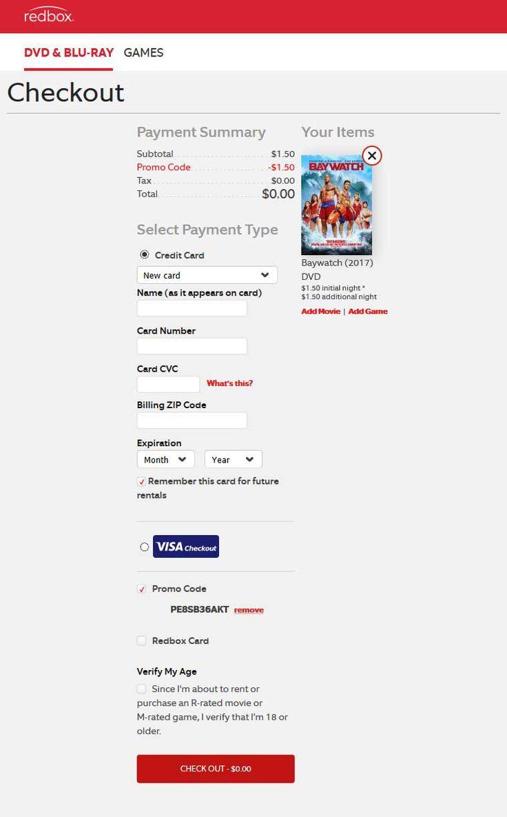 Free DVD rental at Redbox via promo code PE8SB36AKT (09/17)