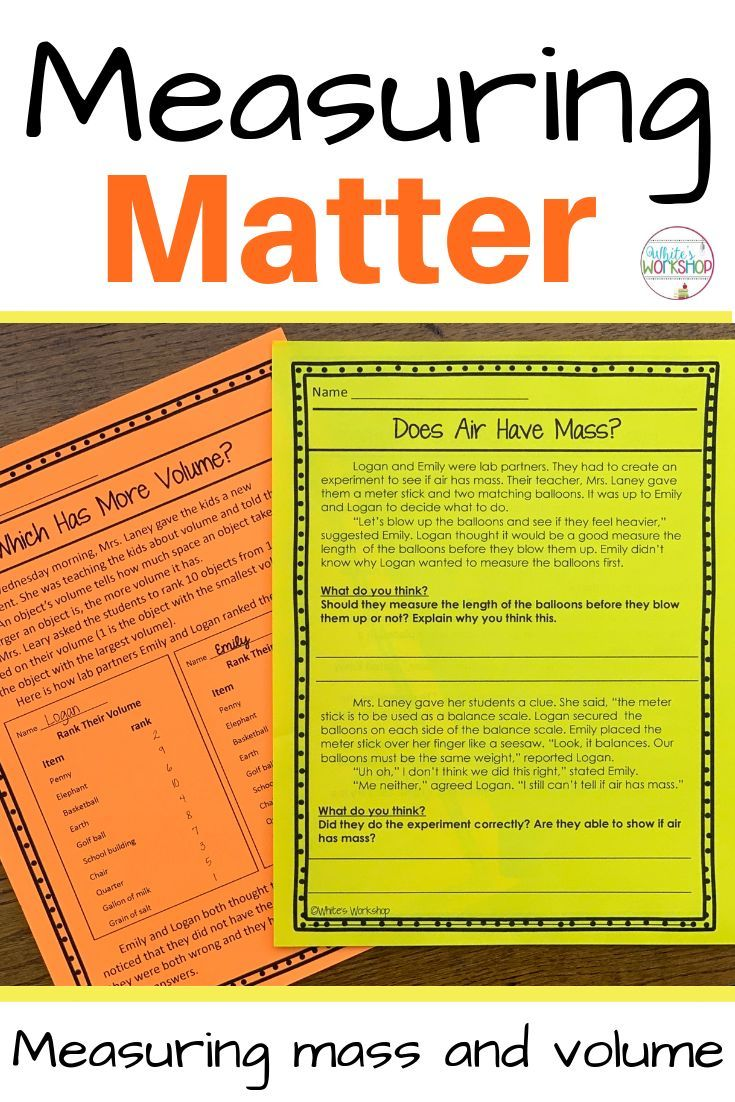 Students Will Learn To Measure Mass And Volume Through These Measuring Matter Close Reading T Close Reading Activities Science Teaching Resources Close Reading [ 1102 x 735 Pixel ]