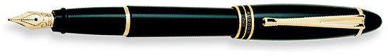 Aurora Ipsilon Resin Black with Black Rings Medium Point Fountain Pen