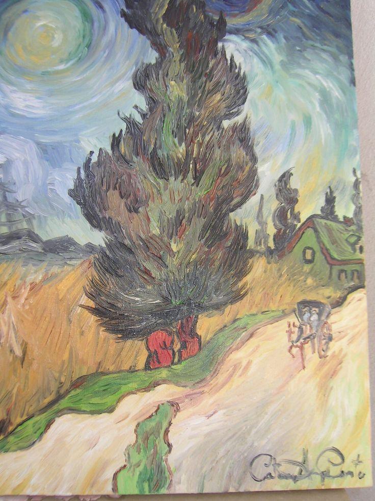 """""""Viale con cipresso di Van Gogh"""" olio su tela... scopri la mia arte su http://www.arch-garden.it/la-mia-arte.html"""