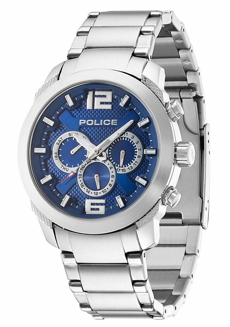 Police Uhr Herren Armbanduhr P13934JS-03M Edelstahlarmband silber blau  http://www.uhren-versand-herne.de/uhren/police-uhr-herren-armbanduhr-p13934js-03m-edelstahlarmband-silber-blau.html