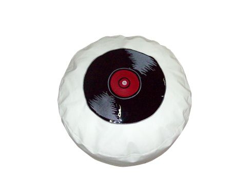 Πουφ Μαξιλάρι Ø 50 Vinyl#Πουφ Poofomania #bean bag#kentima#pouf#poof#