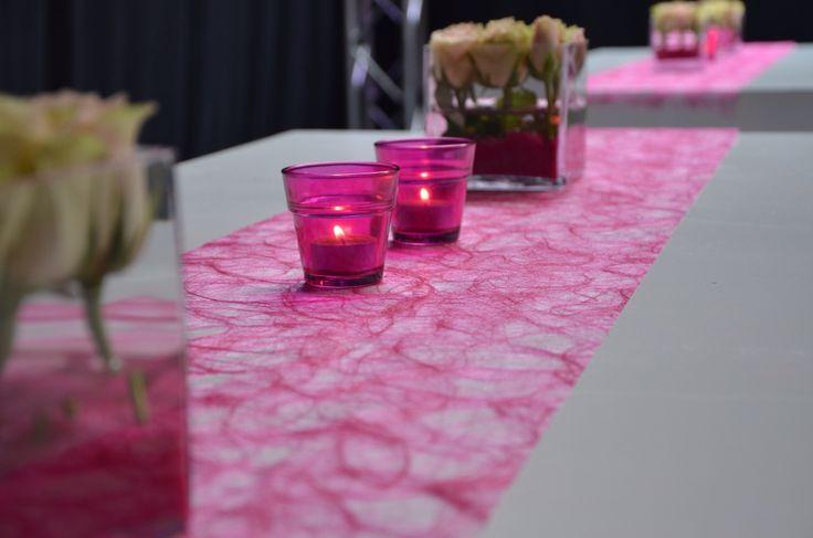 Tafeldecoratie trouw van de wet: Thema roze en wit Gemakkelijk zelf te maken