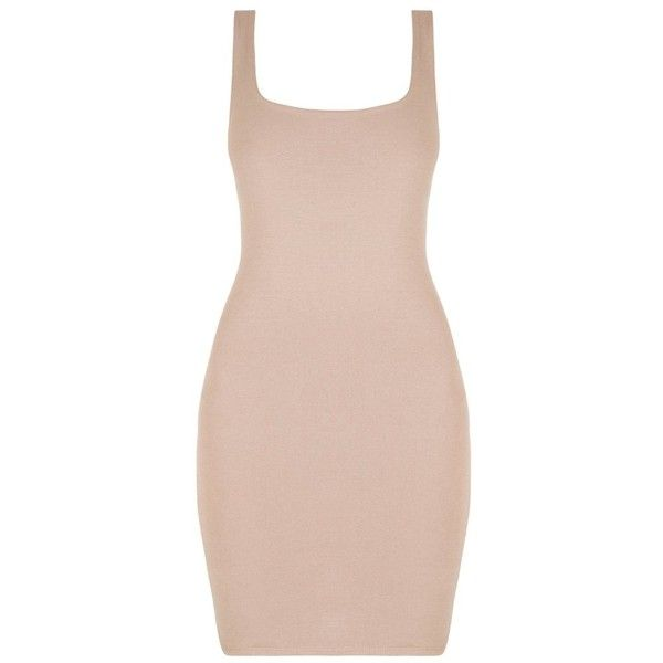 Naked Wardrobe The NW Tank Mini Dress found on Polyvore featuring dresses, vestidos, scoop neck bodycon dress, pink mini dress, bodycon dress, pink dress and viscose dresses