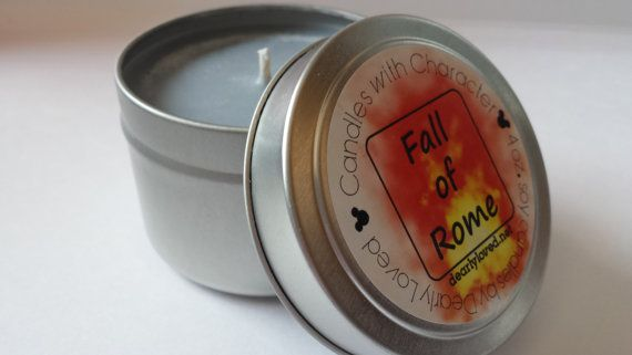 FALL OF ROME  Candles with Character  Soy Wax by MyDearlyLoved | Spaceship Earth…