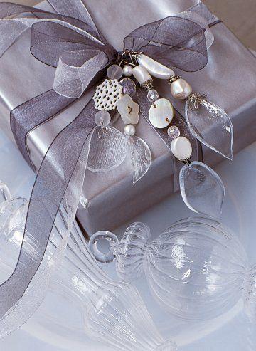 Monochrome gift wrap grey