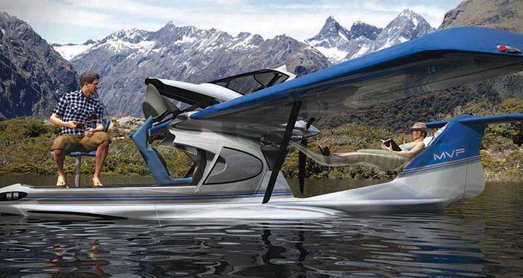 Design - Transport : Un nouveau véhicule fait son entrée dans les concepts géniaux : le MVP . Dans les faits, il s'agit d'un avion qui se pose sur l'eau comme un hydravion, qui permet de pêcher et ...