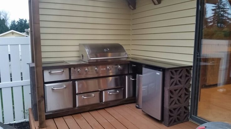 Easy outdoor kitchen on a budget clever ideas for Simple outdoor kitchen designs