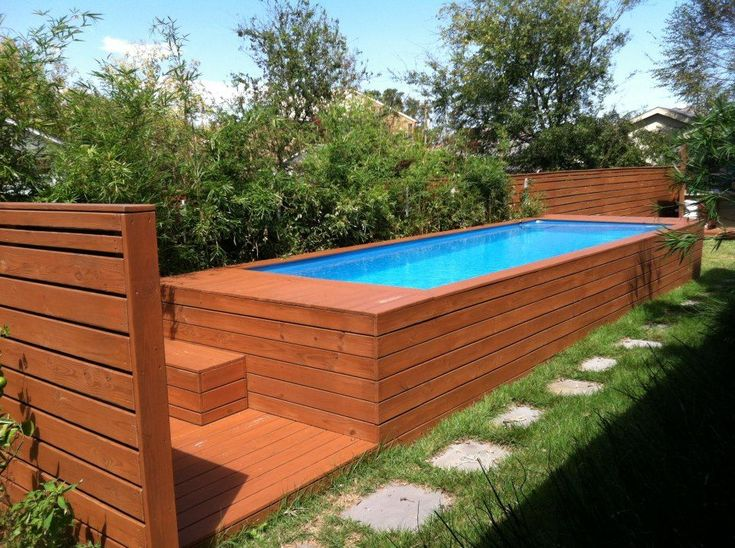One man's trash is now a truly chic swimming pool. Architect Stefan Beese converted a regular old dumpster into a designer patio and swimming area for his family. With a little insulation, pool liner and wood, you would never guess this old container, now dubbed the Pool Box, used to store trash.