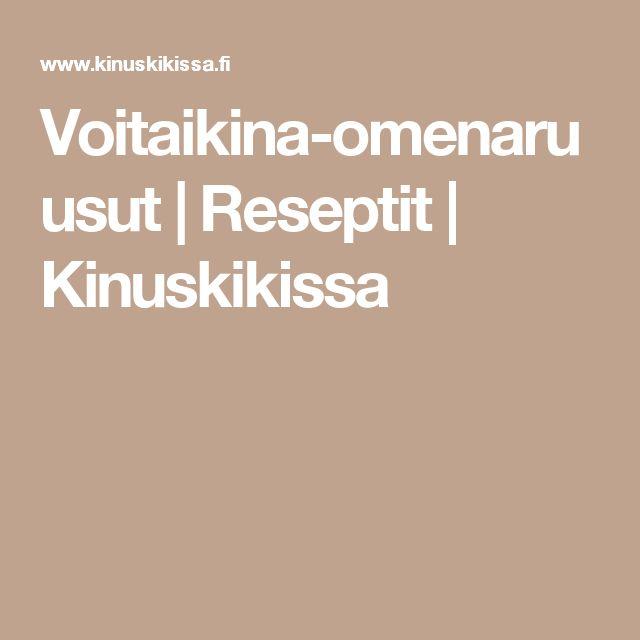 Voitaikina-omenaruusut   Reseptit   Kinuskikissa