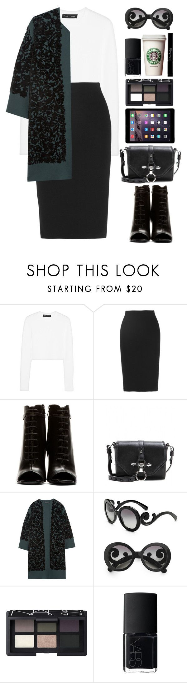 """""""Fashion week"""" by endimanche ❤ liked on Polyvore featuring мода, Proenza Schouler, McQ by Alexander McQueen, Yves Saint Laurent, Givenchy, Dolce&Gabbana, Prada, NARS Cosmetics и Christian Dior"""