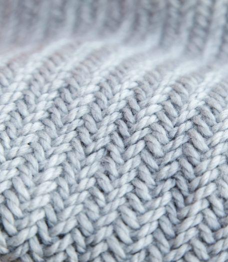 Herringbone Stitch is so pretty! Free Knitting Pattern for this Easy 1 Hour Herringbone Cowl