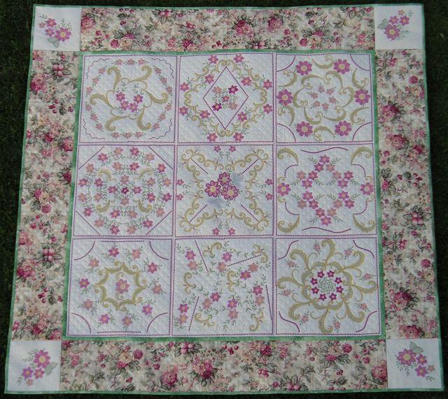 Purple passion and elegant scrolls quilt digitsed