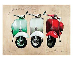 Stampa fine art su canvas con telaio in legno Proudly italian - 80x60x4 cm
