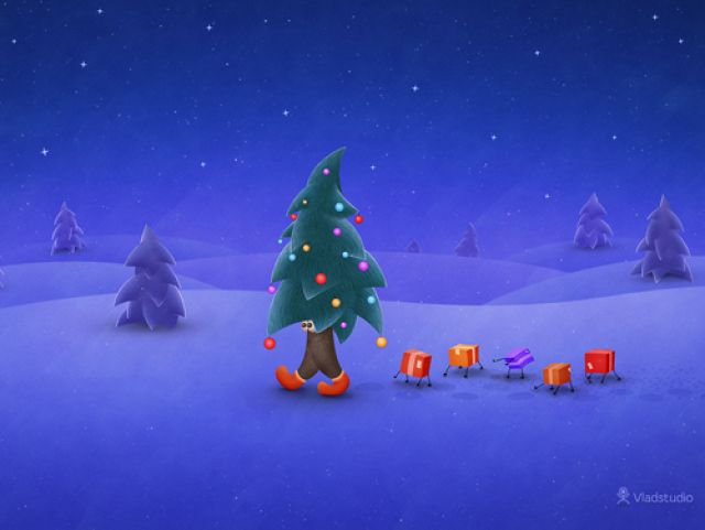 Christmas Desktop Wallpaper for Your Mac - Outfit Your Mac for The Holidays: Vladstudio: Desktop Wallpapers