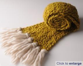 simple chunky double treble crochet scarf pattern