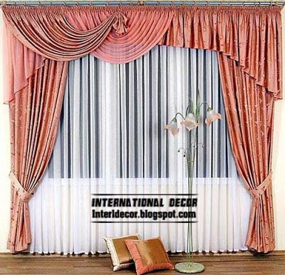 classic curtains, pink fashion types of curtains for window coverings 2014