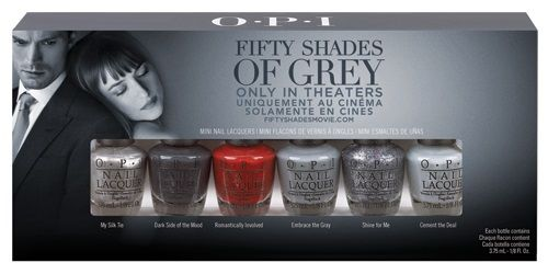 The big news on the nail block is that OPI's latest movie collab is with probably the most talked about book-soon-to-be movie ever! OPI Fifty Shades of Grey