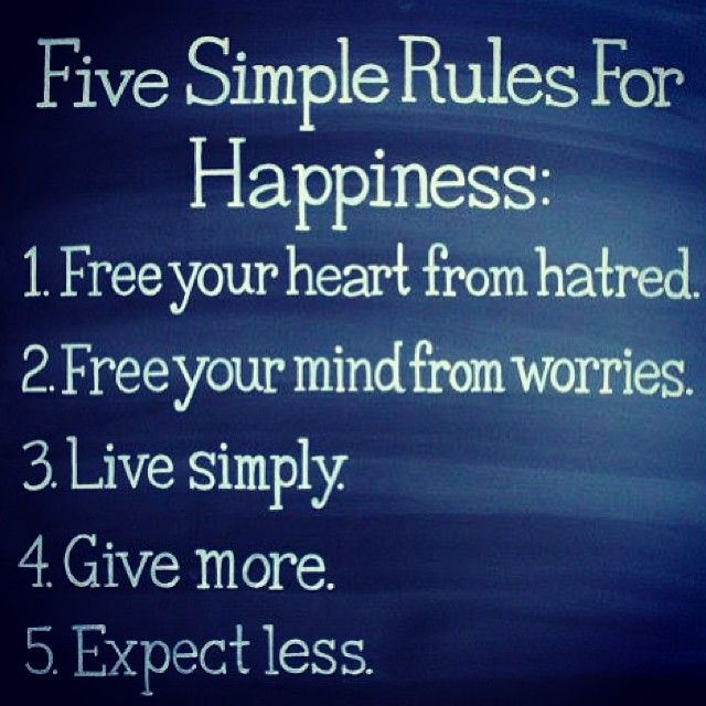 I love the simplicity behind these rules. Easier said than done for most people.
