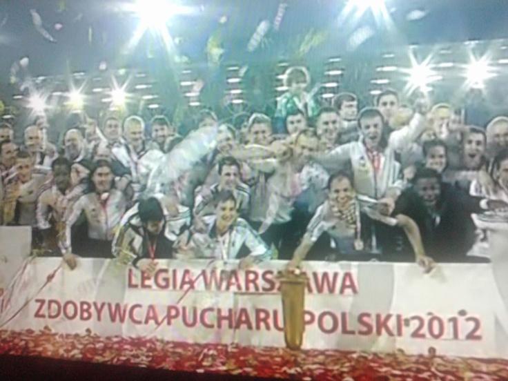 #Legia Warszawa with Polish Cup :)