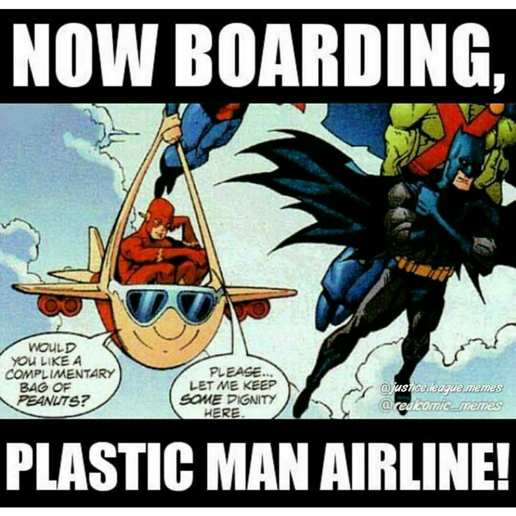 Oh Plastic Man, you silly man! Flash and Plastic Man of the Justice League