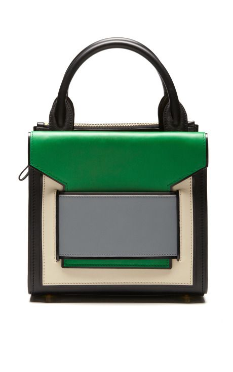 Black, Green, And Blue Mini Tote by Pierre Hardy for Preorder on Moda Operandi