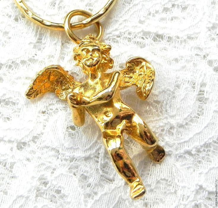 Купить Брелок для ключей Ангелочек,Kirks Folly,США,ангел-хранитель,ангелок - дизайнерские украшения