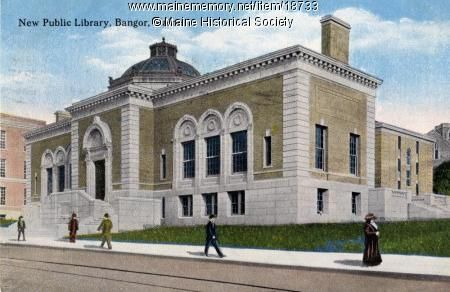 public library in Bangor, Maine.  The corner stone for the new library was laid June 18, 1912. The building was opened for public use on December 20, 1913.