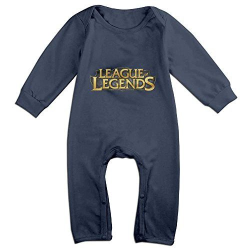 Cute League Of Legends Pro League Climbing Clothes For Newborn Baby Navy Size 6 M