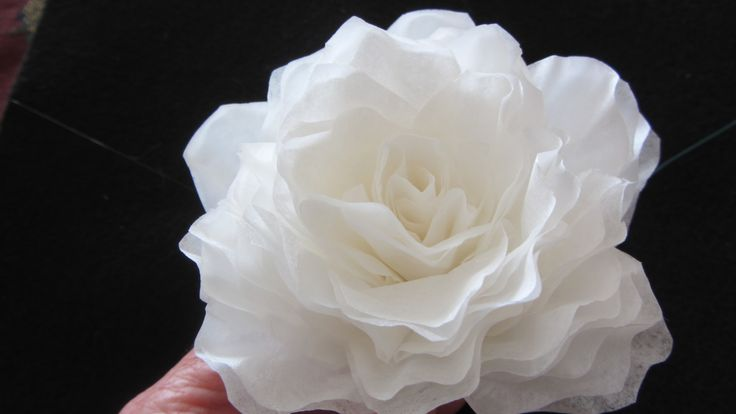 How To Make This Elegant Coffee Filter Rose.  QUICK  The easiest tutorial that I have found - with a realistic outcome.