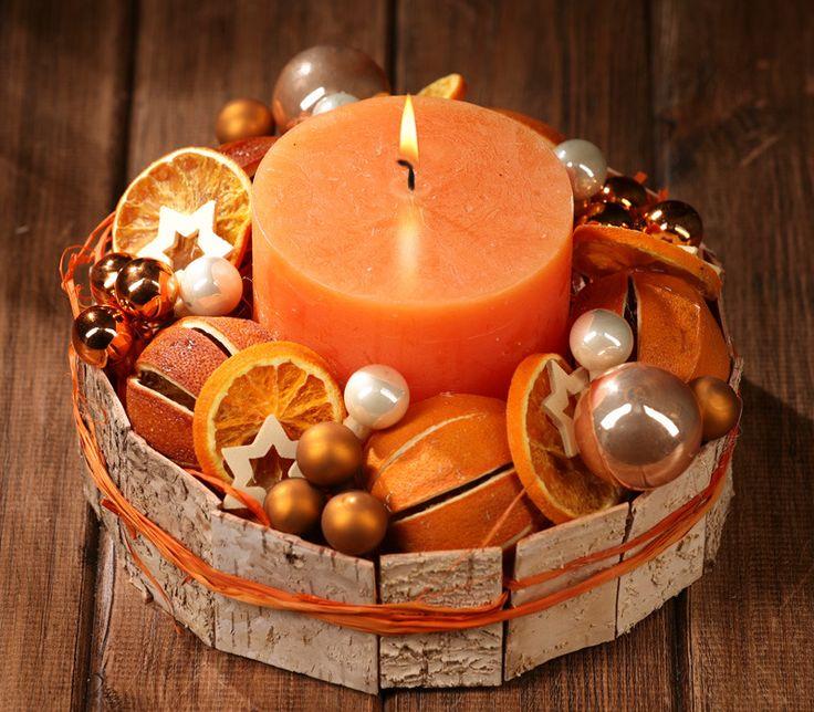 Stroik na Boże Narodzenie Pachnące Pomarańcze ok 30 cm | pozostałe szyszki…