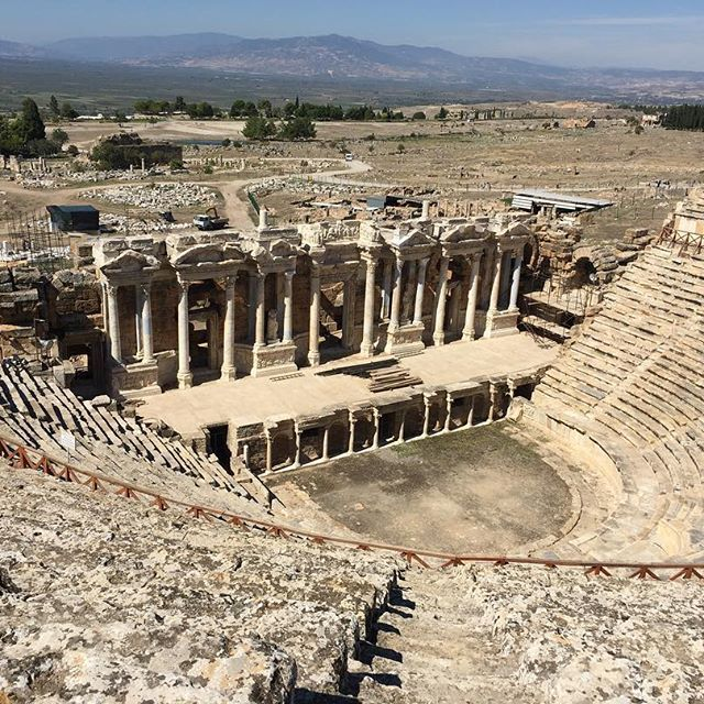 Hierapolis antique theatre. (Antik Tiyatro. Pamukkale - Denizli)