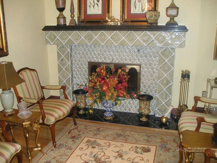 Fireplace with handmade tiles | Céramiques Hugo Sanchez Inc