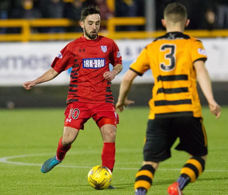 Queen's Park's Anton Brady in action during the Ladbrokes League One game between Alloa Athletic and Queen's Park.