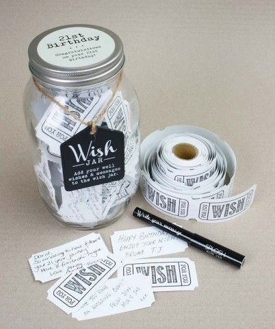 Wish Jar - 21st Birthday