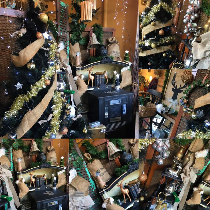 Our rustic Australian Christmas window display
