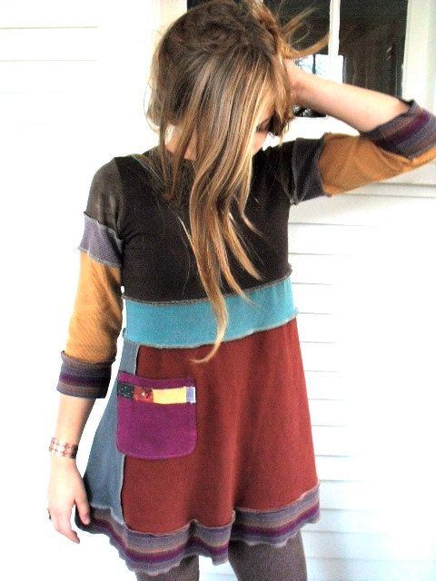 love these upcycled tunics