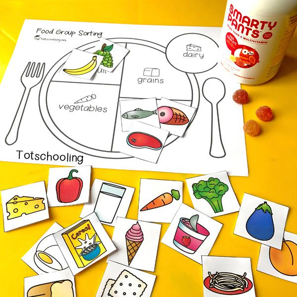 Teach Kids About Healthy Eating with a Food Group Sorting ...
