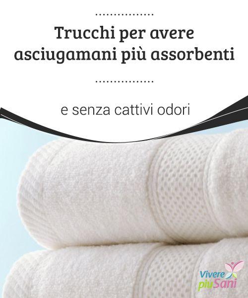 Trucchi per avere asciugamani più #assorbenti e senza cattivi #odori Desiderate asciugamani morbidi e #profumati? Ecco alcuni consigli per #lavarli