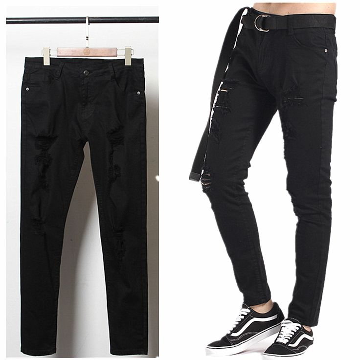 Kenye West Men Joggers Fear of God pants biker Holes Skate Loose Trousers Justin Bieber Pants clothing Casual Pant Cooo Coll