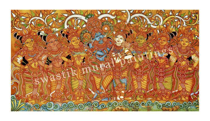 VENUGOPALAM  #kerala mural paintings# mural paintings #murals of kerala# canvas paintings# acrylic paintings