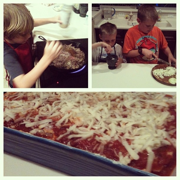 Daddy's birthday lasagna! #kidsinthekitchen #recipes by Kelli ...
