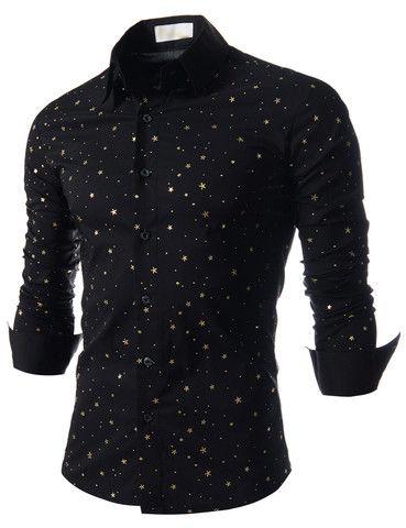 "The ""Galaxy"" Stretchy Dress Shirt – Tattee Boy Clothes"