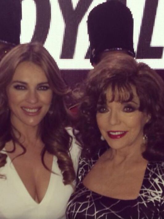 Joan Collins With Liz Hurley